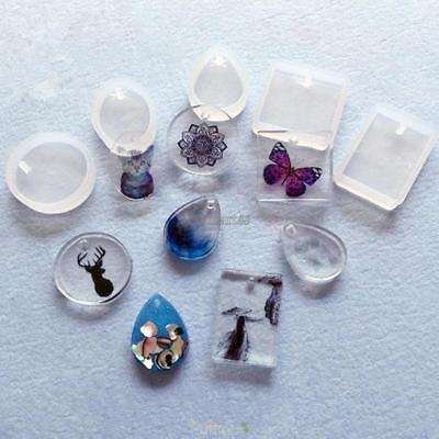 Jewelry Pendant Resin Casting Mould DIY Clear Silicone Mold Making Craft OK