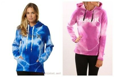 New **Hurley** Women's One And Only Cloud Wash Pullover Hoodie Fleece Jumper