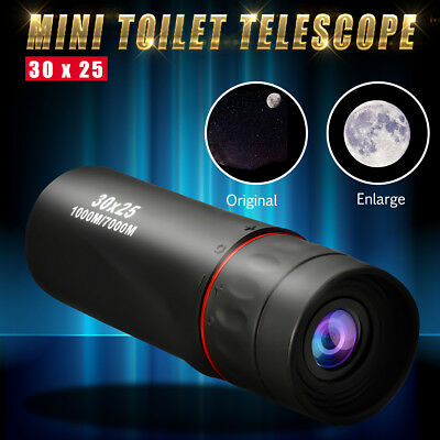 30X25 HD Optical Monocular Telescope Hunting Camping Hiking Travel Night Vision