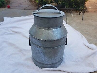 COLLECTABLE NOVELTY TIN MILK CAN 34cms HIGH COMES WITH LID