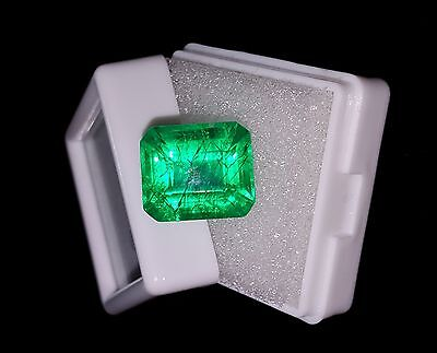 9.62 Ct Decent Natural Certified Emerald Shape Colombian Emerald Gemstone
