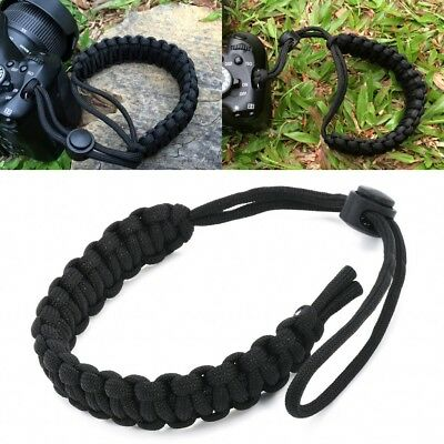Strong Adjustable Camera Wrist Lanyard Strap Grip Weave Cord For Paracord DSLR