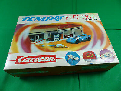 Carrera Tempo Electric 6000 Tankstelle mit Box + Porsche Slot Car - boxed