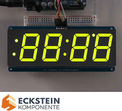 "Adafruit 1.2"" 4-Digit 7-Segment Display w I2C Backpack - Green AF1268"