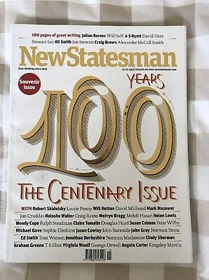New Statesman Magazine Centenary Issue 100 Years April 2013