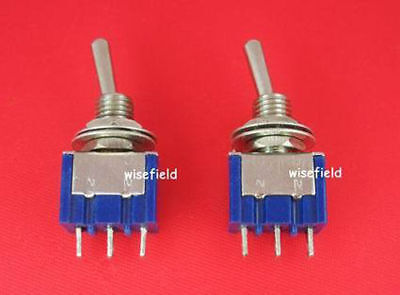 Piano Lot 2 x New SPDT Mini Toggle ON/OFF OFF/ON Switch