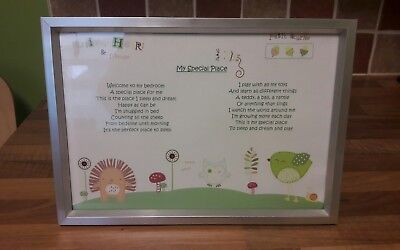 Olive and Henri nursery framed poem