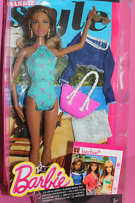 "Barbie glam Vacation afro barbie 2014/Collection ""barbie style"" Never"