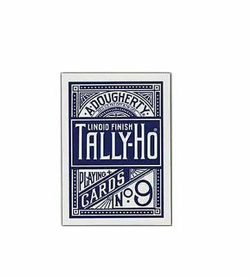 No9 Tally Ho Circle Back Deck - Blue - Playing Cards  New