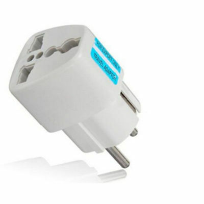Universal US UK to EU Euro Plug AC Power Travel Home Charger Converter Adapter L