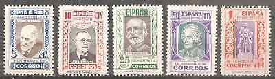 Espana 1937 Charity Stamps Caridad (Back Of Catalog) Unused No Gum (*) Very Fine