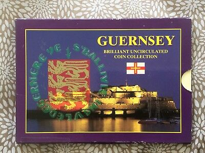 Guernsey 1997 Royal Mint 9 Coin Brilliant Uncirculated Set With £2 Coin