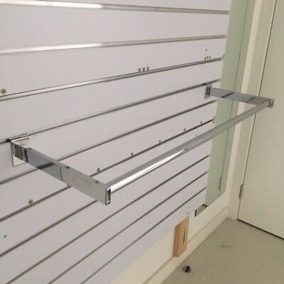 14x SIDE HANG RAILS 900mm Shop fit out slat wall racking Business store display