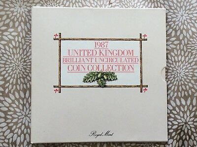 1987 Uncirculated UK Year  coin set - Royal Mint pack