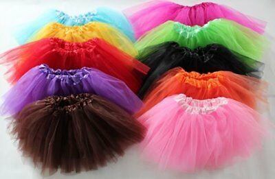 Baby Girls Tutu Skirt Party Summer Candy Colours One Size Fits Age  0-6 Years