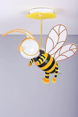 Modern Bumble Bee pendant light in orange for any boy or girl bedroom