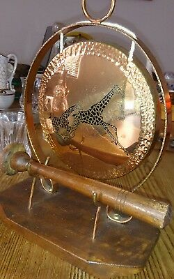 VINTAGE ANTIQUE african Brass Copper Gong Collectables Ornament