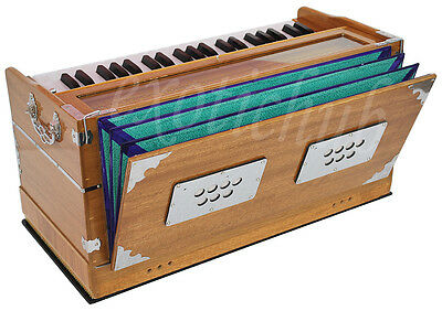 HARMONIUM~HAND MADE INDIAN~TEAK COLOR~440Hz~EXTRA HEIGHT~LONG SUSTAIN SOUND~YOGA