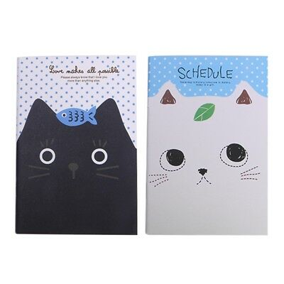 Cartoon Cat Sweet Hard Cover Paperback Notebook  Book Diary Notepad Sketchbook