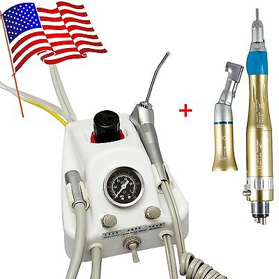Dental Portable Air Turbine Unit SN4 & NSK Low Speed Handpiece Kit 4Hole YCCUSA