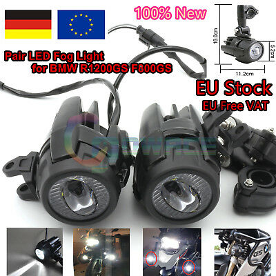 【DE Stock】2x LED Fog Light Auxiliary Driving Assembly for BMW ADV R1200GS F800GS