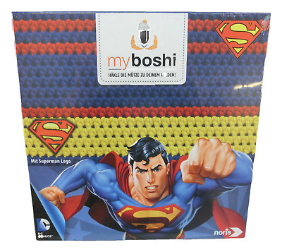 myboshi - Superhelden Häkelmütze Superman Häkel-Set