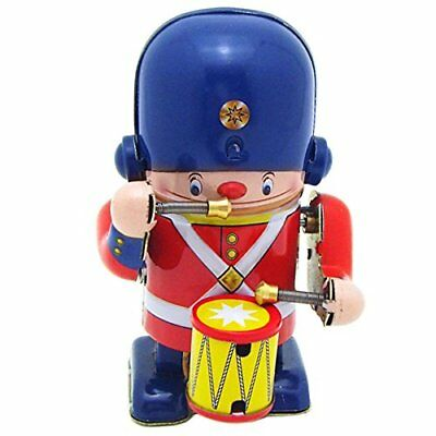 """Little Drummer TIn Toy Soldier Metal Winds up Toy 3.3"""" Tall"""