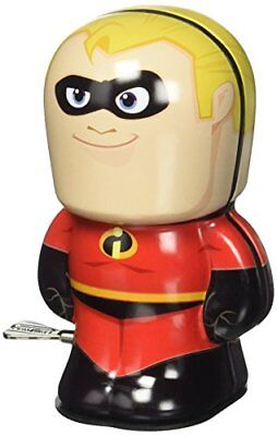 Disney Pixar The Incredibles Mr. Incredible Bebot Tin Wind Up Action Figure