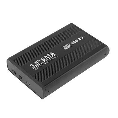 USB 2.0 3.5 Inch SATA External Hard Drive HDD Enclosure Case Black