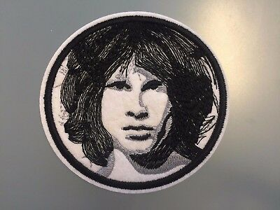 """JIM MORRISON Patch - Embroidered Iron On Patch 3 """" THE DOORS"""