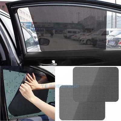 2Pcs Car Rear Window Side Sun Shade Cover Block Static Cling Visor Shield  TN2F