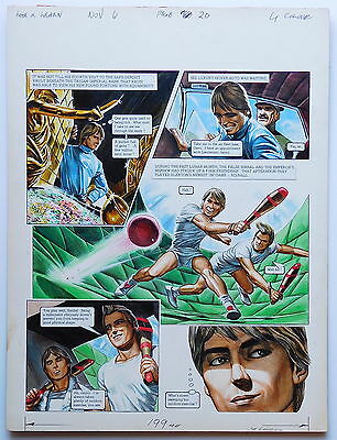 TRIGAN EMPIRE - Oliver Frey original art - Look and Learn - 1976