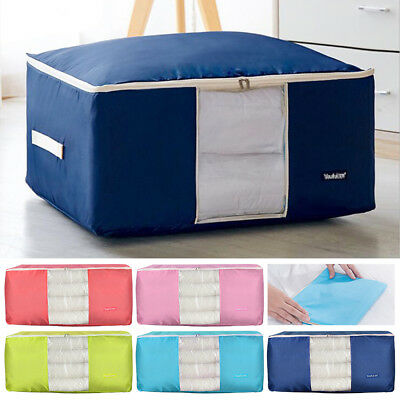 Large Storage Bag Oxford Box Clothes Quilt Bedding Duvet Laundry Pillows Zipped