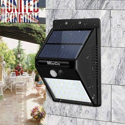 20 LED Solar Powered PIR Motion Sensor Outdoor Wall Lights Garden Lighting Lamp