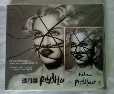 Madonna Rebel Heart deluxe preorder edition Taiwan with promo transport card