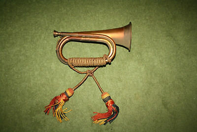 Vintage & original 11-inch Copper & brass bugle with mouthpiece