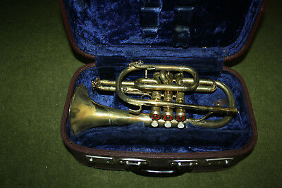 Vintage Brass 13-Inch Trumpet In Case