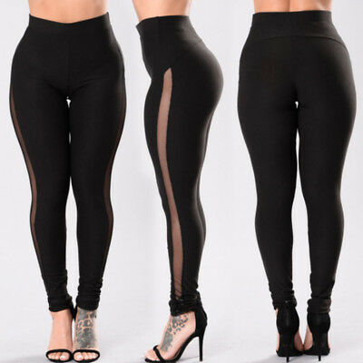 Women Yoga Workout Pants Skinny Gym Running Fitness Leggings Athletic Clothes US