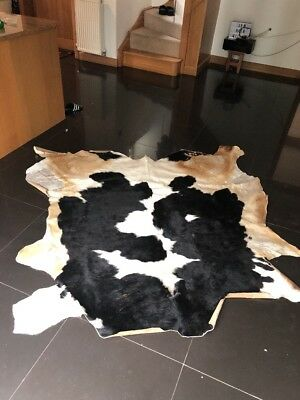 cow hide rug Black Tan And White
