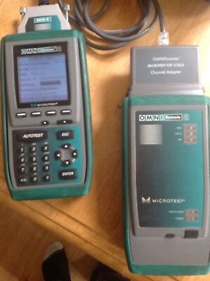 Omniscanner Cat5 Cat 6 Network Tester With Mm Fibre Heads