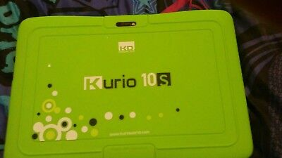 kurio tablet with screen protector. Green
