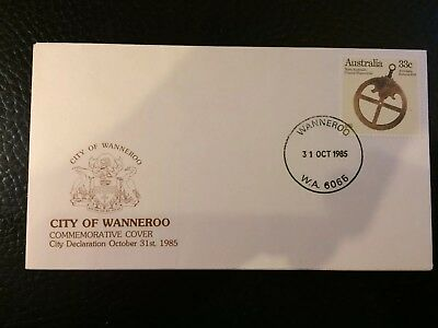 1985 City Of Wanneroo Commemorative Cover Stamp