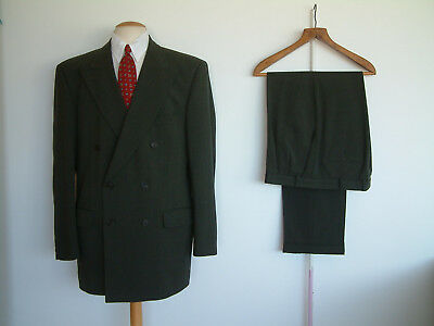"1940's STYLE SUIT..GOODWOOD..TWIN PLEATS..PTU's..HIGH WAISTED..42""x 36""..SWING"