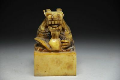 Distinctive China Stone Hand Carved Dragons Seal