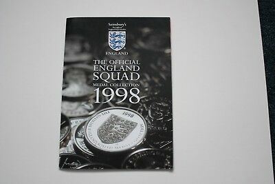 Sainsbury`s   The  Official  England  Squad  Medal  Collection  1998