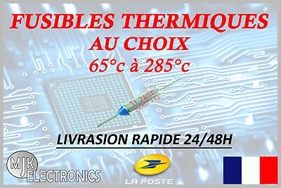 SEFUSE / RY  Cutoffs NEC Thermal Fuse / Fusible Thermique - 65°C à 285°C 10A 250