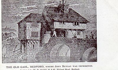 old postcard of the Old Gaol, Bedford