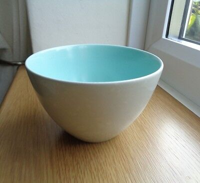 Poole Twintone Pottery - Ice Green and Seagull Sugar Bowl
