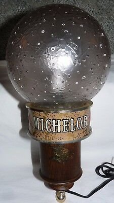 Michelob Beer Vintage Plastic Sconce Electric Bar Light Works