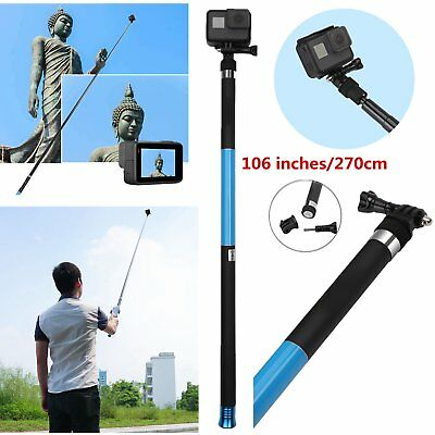 Extendable Selfie Pole Telescopic Monopod Handheld Stick For GoPro Hero 6 5 4 3